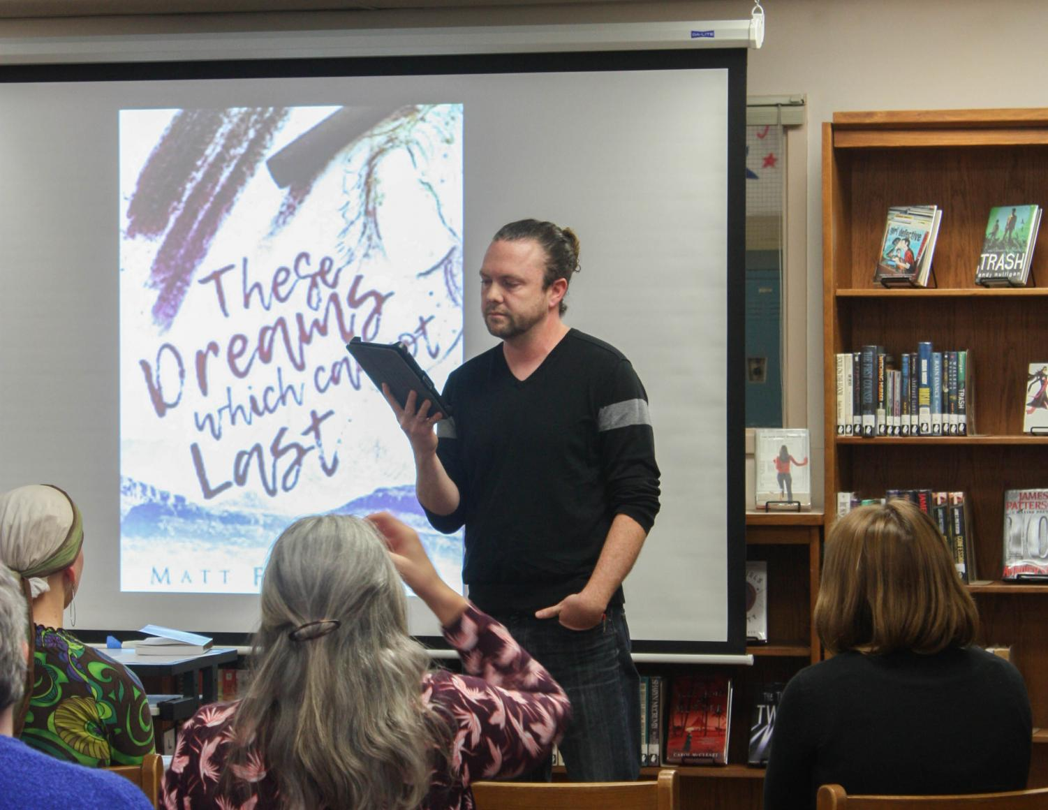 English teacher Matt Flickinger reads a chapter from his coming-of-age novel These Dreams Which Cannot Last, originally published in August 2017. Flickinger's novel has earned a score of 4.9/5 on Goodreads.