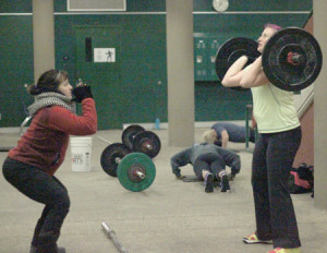 Teachers drop the books and lift the weights