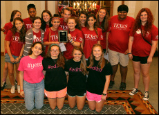 Newspaper and Yearbook staff alike compete at the San Antonio conference for journalism. The two staff's combined to bring home their second straight sweepstakes award as the top program at this convention.