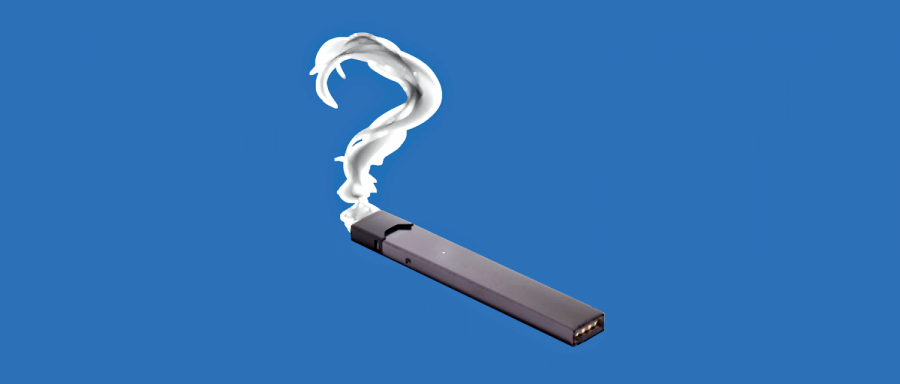 Juul+is+a+common+vaping+device%2C+the+appearance+of+the+Juul+is+similar+to+a+flash-drive%2C+thus+many+students+are+able+to+conceal+it+in+class.+