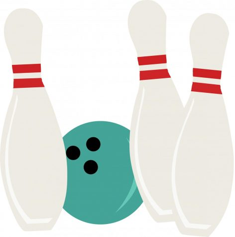 Bowldogs knocking down pins