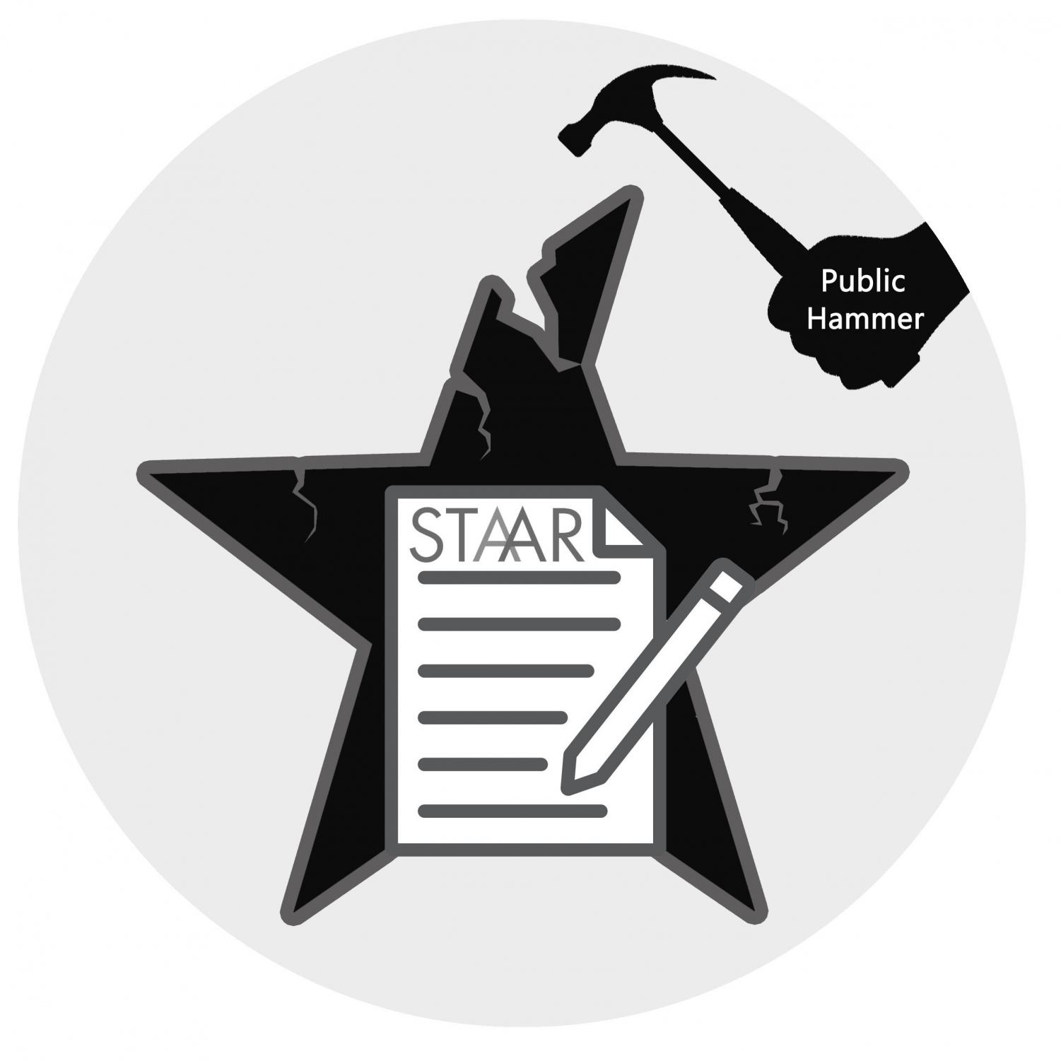 The State of Texas Assessments of Academic Readiness test. The STAAR test is one example of what many states require for students to pass in order to move from one grade to the next.