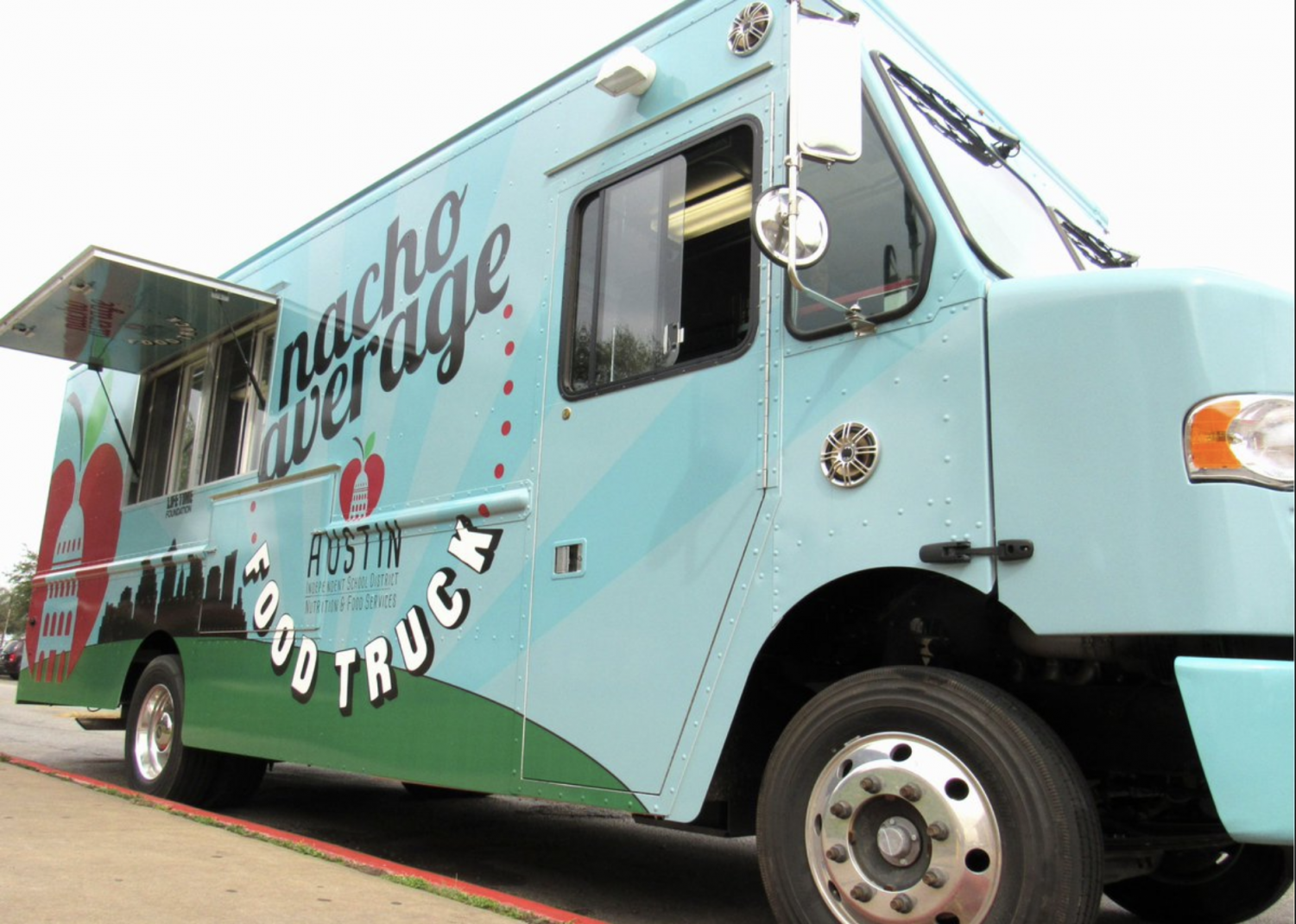 Last month, Bowie parents and students were warned of a mechanical issue on the AISD Nacho Average Food Truck. Picture courtesy of Austin ISD Food Services.