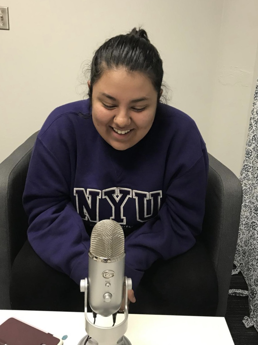 LAUGHING OUT LOUD: Junior Alina Watson discusses her new album with podcast host, junior Austin Civatte.