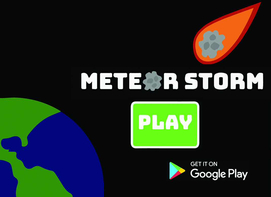 The app, Meteor Storm, is now available on Google Play for downloading.
