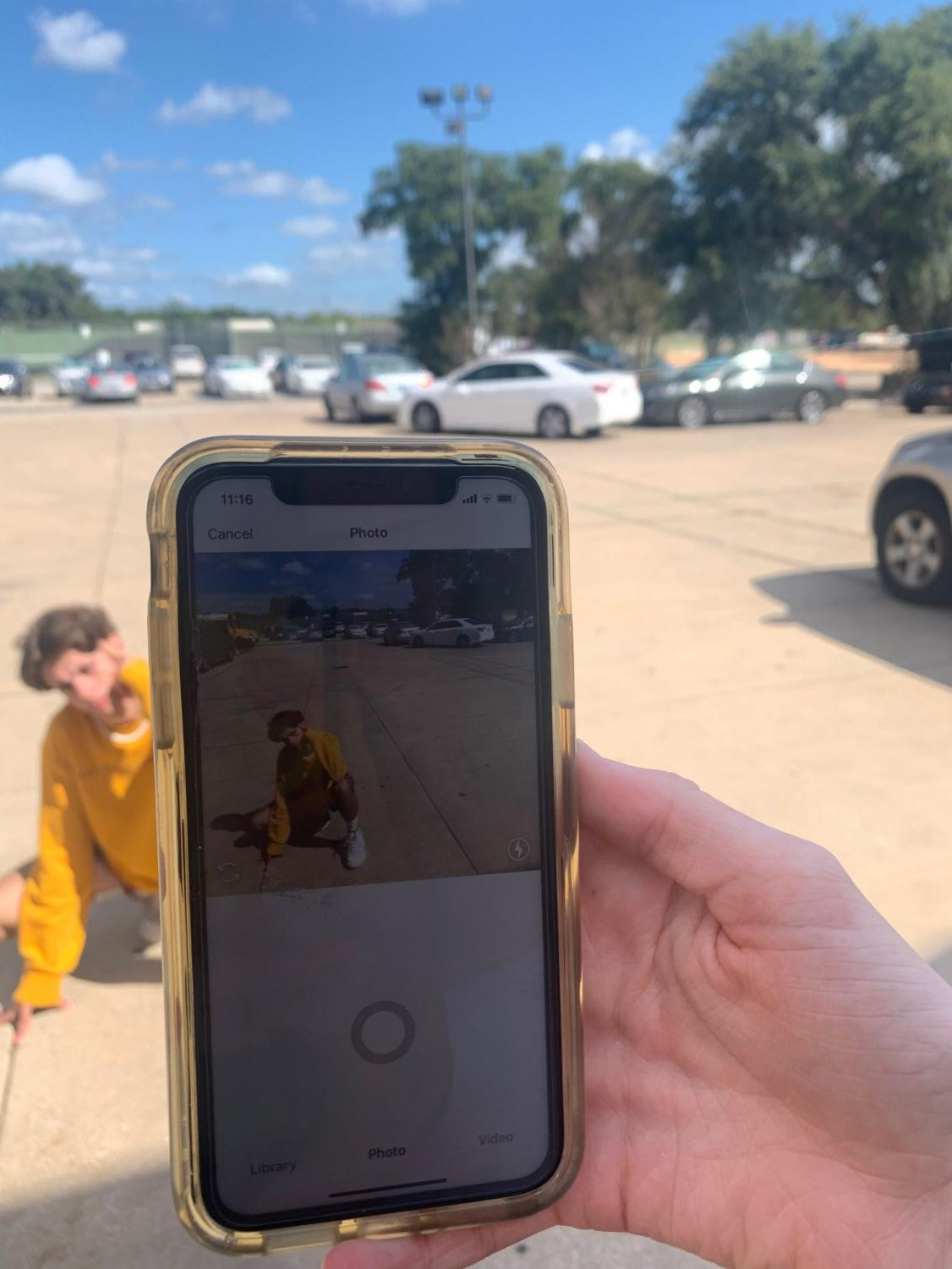 Students use instagram, a major social media platform. The student takes a instagram picture with a phone to post on instagram .