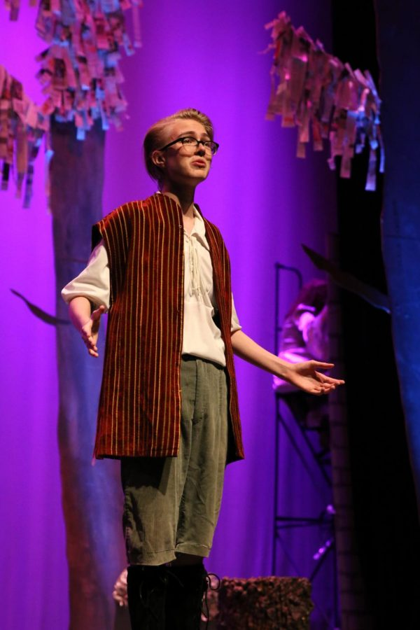 A BOY: Junior Riley McCue plays the boy in