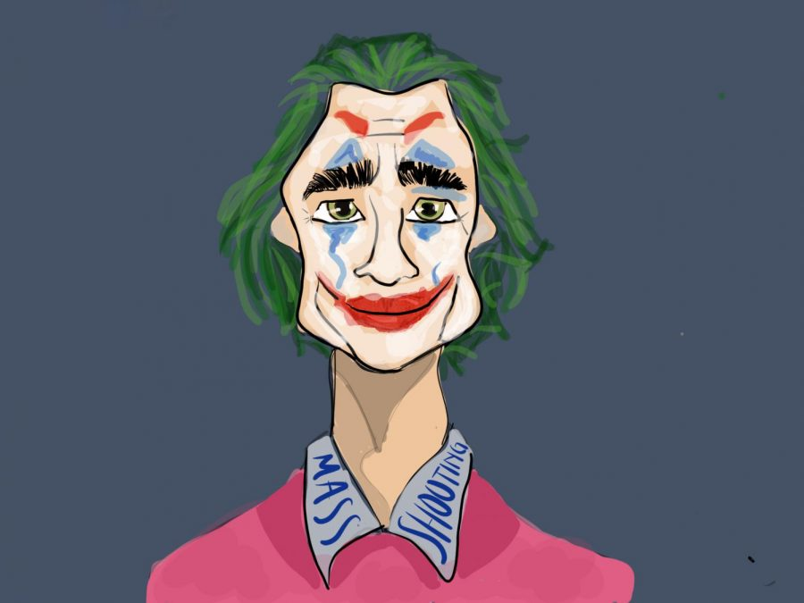 """On October 4th, 2019, """"JOKER"""" was released to theaters and with it several controversies over the film. The movie is directed by Todd Philip, and starring Joaquin Phoenix as Arthur Fleck a.k.a The Joker.  Art by Shruti Patel"""