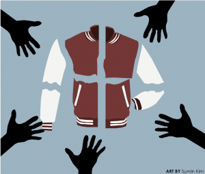 Letterman jackets used to be exclusively for sports but has since been made common for the arts. The question is at what point does the inclusivity of the jacket make it meaningless.