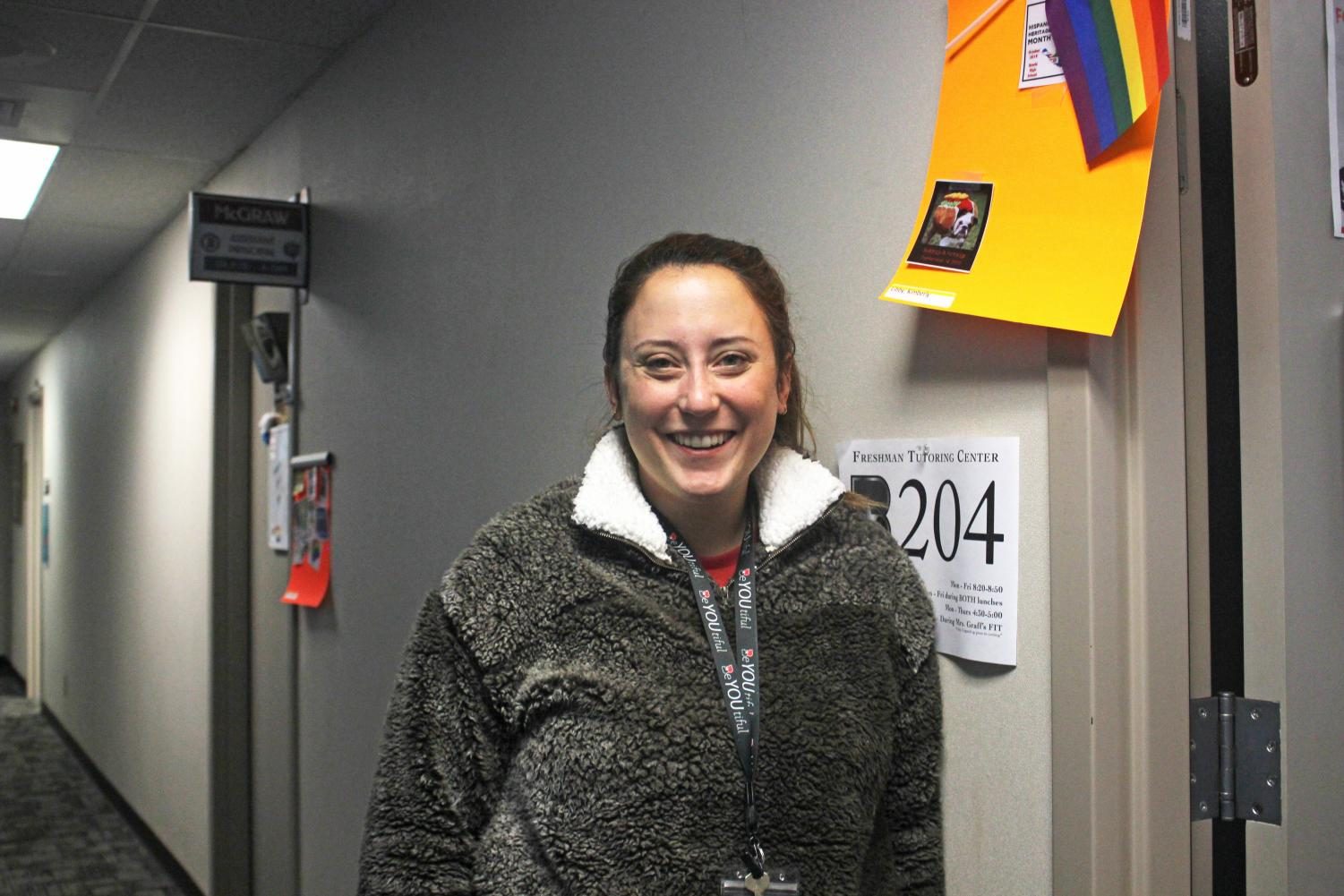 Counselor Kim Libby works with students who have the last names beginning with A-Chai, 9th-12th grade and her office is located in the front office.