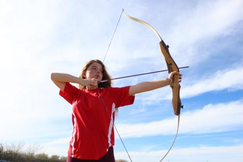 "Addy Schmer is a Sophomore that teaches archery classes at Central Texas Archery. ""I recommend archery, It"