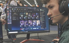 DEATHMATCH: Eli Buerger plays League of Legends at the eSports competition. He is a member of the eSports club and helped the team beat Austin High 36-1.