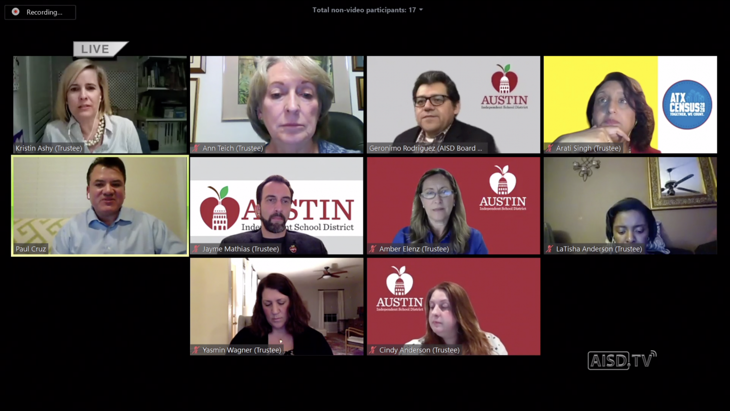 The+Austin+Independent+School+District+%28AISD%29+board+hosted+an+online+meeting+Monday%2C+April+6+to+discuss+the+future+of+AISD+students+while+learning+online.+The+AISD+board+decided+the+Spring+semester+of+the+2020+school+year+will+not+be+used+as+a+part+of+future+GPA+or+rank+calculations.
