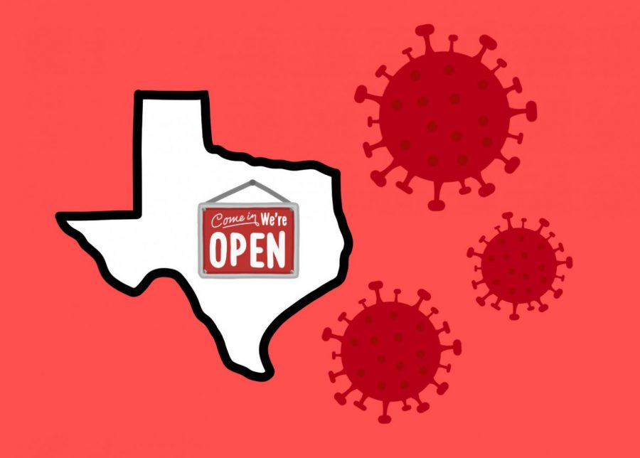 As+of+Monday%2C+May+18%2C+Texas+Governor+Greg+Abbott+has+implemented+phase+two+of+his+reopening+Texas+plan.+Within+phase+two%2C+gyms+and+athletic+facilities%2C+office+buildings%2C+and+non-essential+manufacturing+sites+will+be+able+to+resume+operations+at+limited+capacities.+