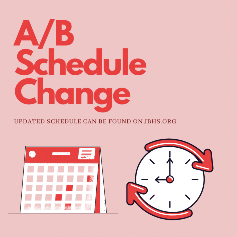 New changes have been made to the A/B schedule. Check out the jbhs website to see the updated calendar.