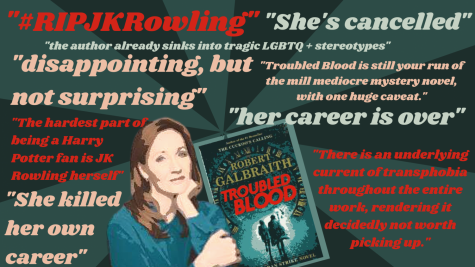 "J.K. Rowlings new novel, ""Troubled Blood"" causes controversy. J.K. Rowling has been labeled as ""transphobic"" from  readers. Additionaly, Rowling has been under fire for a a series of tweets that are controversial to the transgender community."