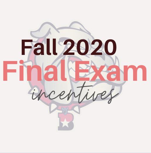 Fall 2020 exam incentives