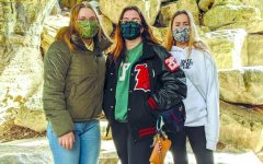 WITH HER HOST FAMILY: Sophomores Sophia Rockitt, Emily Williams and graduate Megan Williams hike in Austin. The Williams family has been in contact with Rockitt since last May.