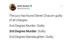 Senior Katie Golson shares to her social media the verdict of George Floyd's case. Derek Chauvin was convicted on all charges brought against him for the death of George Floyd.