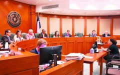 NEW VOICES: Activist Bethany Bissel (right) testified before the Public Education Committee in 2019. The committee is made up of 13 members of the Texas House of Representatives.