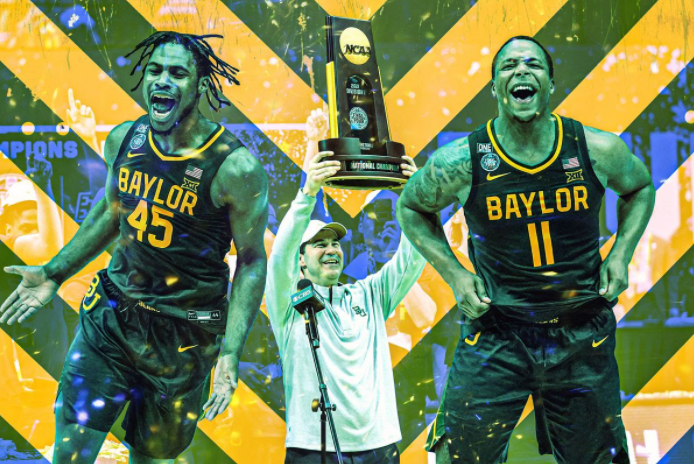The Baylor Bears Dominated the Indomitable Team to Win Their First Men's NCAA Title (Getty Images/AP Images/Ringer illustration)