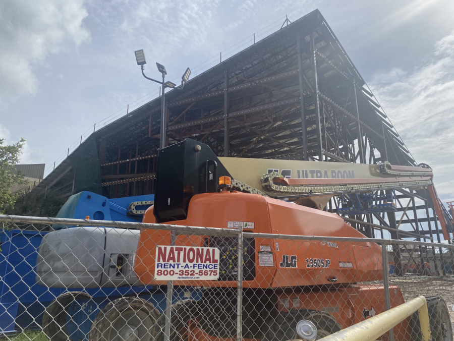NEW BUILDING: The new athletic facility will hold a competition gym, practice gym, a new weight room, and administrative offices.  The building is scheduled to be finished sometime this year.