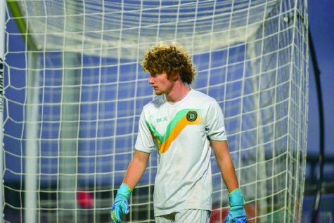 THE LAST DEFENSE: Junior goalkeeper Zach Kos signed with Austin Bold FC last year. He is excited for formation of the new team and stadium, and he hopes to one day be playing on the team. PHOTO COURTESY OF Zach Kos