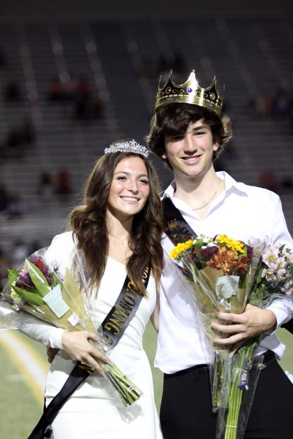 BOTH IN CROWNS: Seniors Ellie Dusterhoft and Steven Davis were named this years Homecoming king and queen.